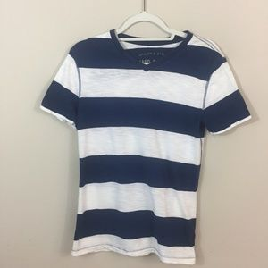 Mossimo Supply Co Blue/White striped tee, small